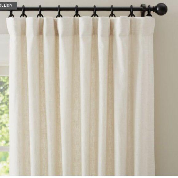 {1} Emery Linen/Cotton Rod Pocket Blackout Drape